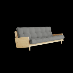 Sofabed Indie | Natural Frame + Grey Mattress