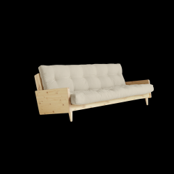 Sofabed Indie | Natural Frame + Beige Mattress