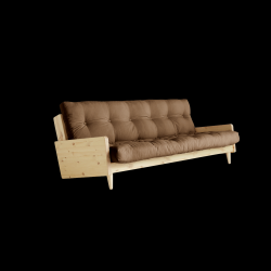 Sofabed Indie | Natural Frame + Mocca Mattress