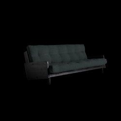 Sofabed Indie | Black Frame + Slate Grey Mattress