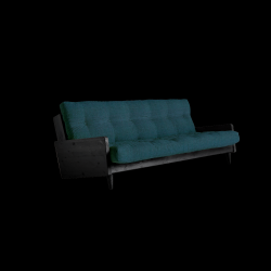 Sofabed Indie | Black Frame + Deep Blue Mattress