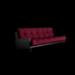 Sofabed Indie | Black Frame + Bordeaux Mattress