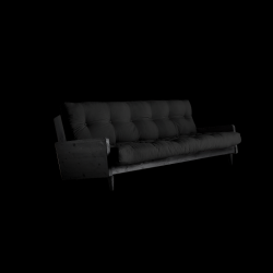 Sofabed Indie | Black Frame + Dark Grey Mattress