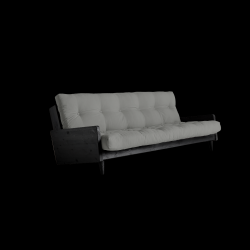 Sofabed Indie | Black Frame + Grey Mattress