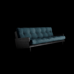 Sofabed Indie | Black Frame + Petrol Blue Mattress