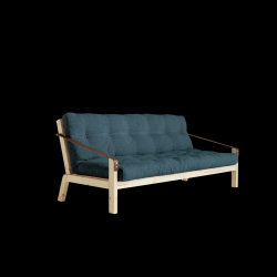 Slaapbank Poetry | Frame Naturel + Matras Deep Blauw