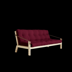Slaapbank Poetry | Frame Naturel + Matras Bordeaux