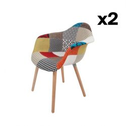 Chair DYLAN 222 Set of 2 | Multicolour