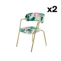 Chair JUNGLE Set of 2 | Multicolour-Green