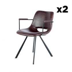 Chair Hagga 8.0 Set of 2 | Brown