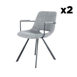 Set of 2 Chairs Hagga 8.0 | Grey