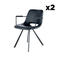 Set of 2 Chairs Hagga 8.0 | Black