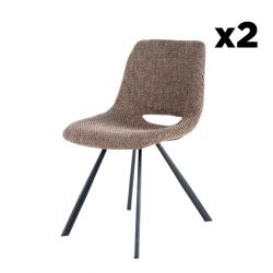 Chair Hagga Set of 2 | Brown
