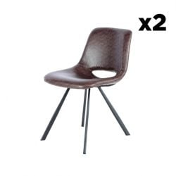 Chair Hagga Set of 2 | Dark Brown