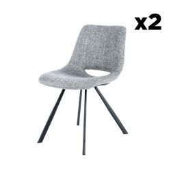 Set of 2 Chairs Hagga | Grey