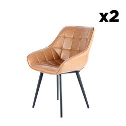 Chair Luco Set of 2 | Brown & Black