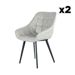 Chair Luco Set of 2 | Grey & Black