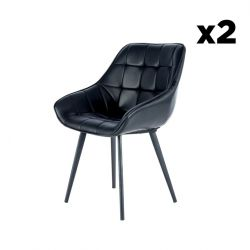 Chair Luco Set of 2 | Black