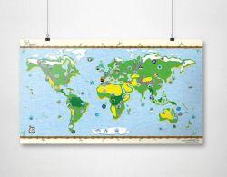 Wiederbeschreibbare Weltkarte | Kids-Karte