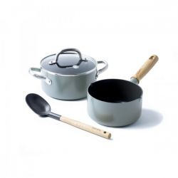 Ceramic Non-stick Cooking Pot Mayflower | Set of 3
