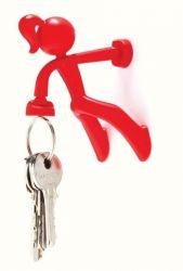 Schlüsselanhänger Zierliches Mädchen | Rot