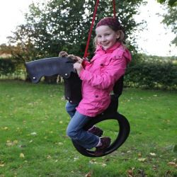 Children's Swing | Horse | Black