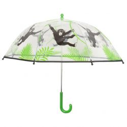 Kids Umbrella | Transparant Monkey