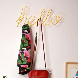Wall Coat Rack Hello | Yellow