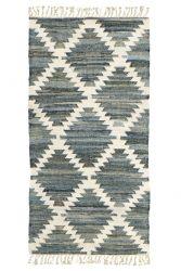 Wendbarer Teppich-Kelim | Blau