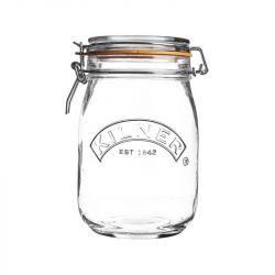 Runder Glas-Clip-Top-Dose -1 L