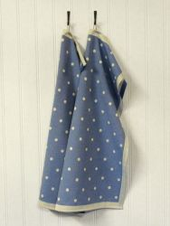 A set of 2 Kitchen Towels Blue