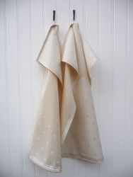 A set of 2 Kitchen Towels Beige