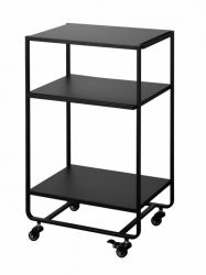 3-Tiered Kitchen Wagon Tower | Black
