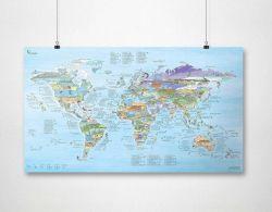 Wiederbeschreibbare Weltkarte | Kitesurf