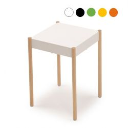 La Table Stackable Stool B1W