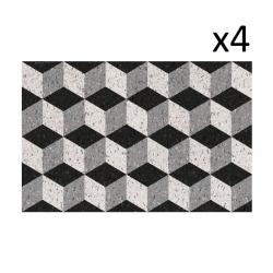 Vinyl Placemats Bauhaus Set of 4