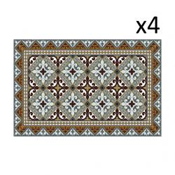 Vinyl Placemats Flor de Lis Set of 4