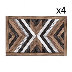 Vinyl Placemats Wood Art Set of 4
