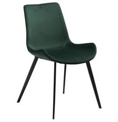 Hype chair, emerald green velvet