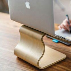 Schreibtischhocker | Weißes Lindenholz
