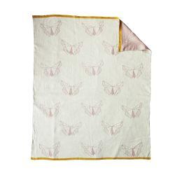 Gestrickte Decke | Schmetterlinge
