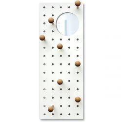 Peg-it-all Storage Panel w/ Mirror | Natural