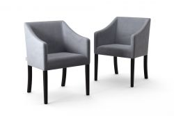 2-er Set Esszimmerstühle Illusion Velvet | Grau