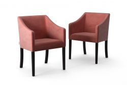 2-er Set Esszimmerstühle Illusion Velvet | Puderrosa