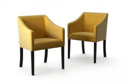 2-er Set Esszimmerstühle Illusion Velvet | Gelb