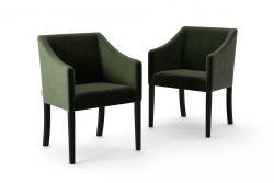 2-er Set Esszimmerstühle Illusion Velvet | Dunkelgrün