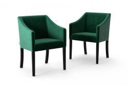 2-er Set Esszimmerstühle Illusion Velvet | Grün