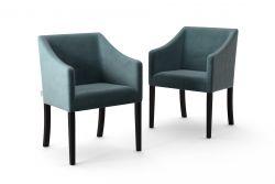 2-er Set Esszimmerstühle Illusion Velvet | Graugrün