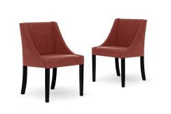 Set of 2 Dining Chairs Creativity | Coral Red