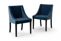 2-er Set Esszimmerstühle Creativity Velvet | Marineblau